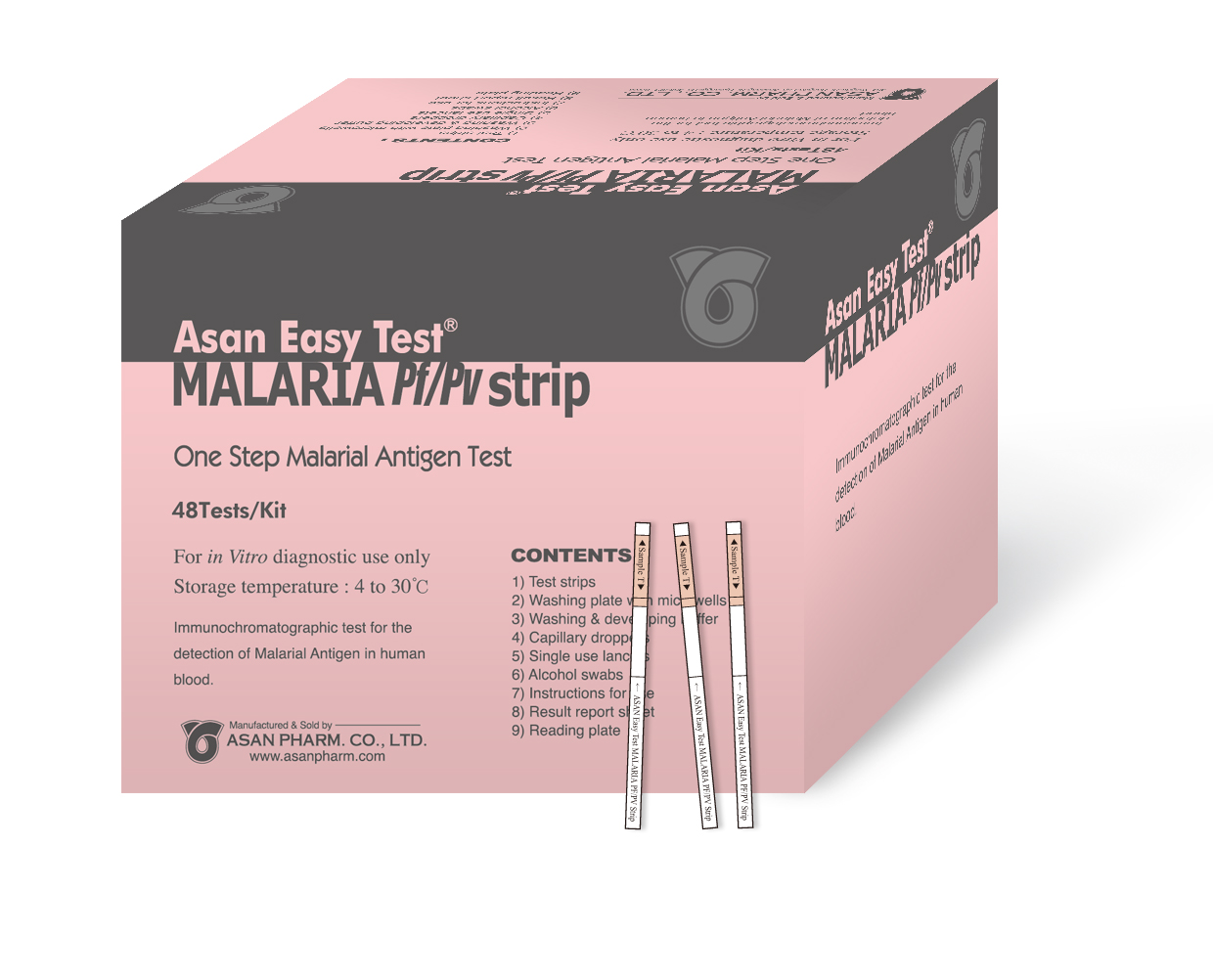 Asan  Easy Test Malaria Pf/Pv strip
